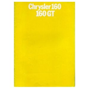 Chrysler 160 - 160 GT, catalogue de 1970