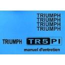 Notice d entretien Triumph TR 5 Pi