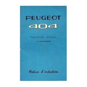 Notice d entretien 1967 Coupé Cab. (carbu)