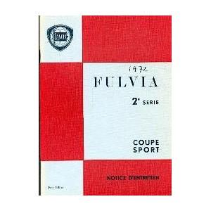 notice d' entretien  Fulvia Série 2