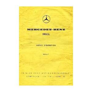 Notice d' entretien Mercedes 190 SL