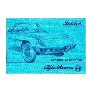 Notice d' entretien Alfa Roméo Spider 1981