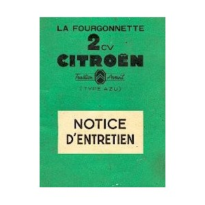 Notice d' entretien AZU 1955