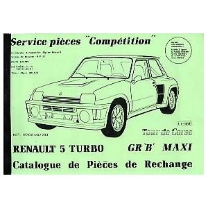 Catalogue de piéces Tour de Corse