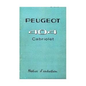Notice d entretien 1962 Cabriolet