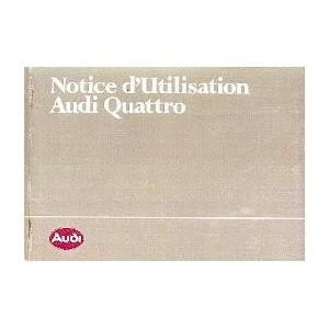 Notice d entretien Audi Quattro