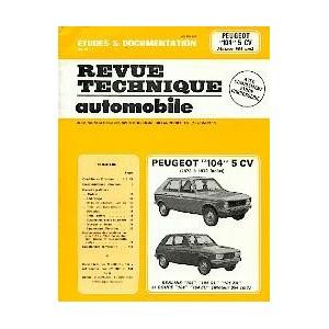 Revue Technique Peugeot 104 de 1973 à 1979