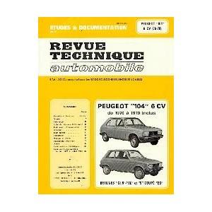 Revue Technique Peugeot 104 (6VC) 1976-79