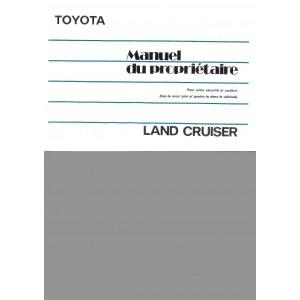 Notice d entretien Toyota Land Cruiser