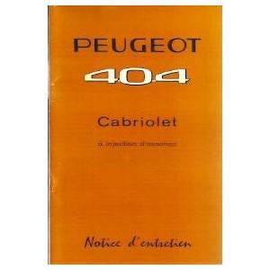 notice d entretien 1964 Cabriolet (Inj.)