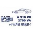 Catalogue de pièces A 310 V 6