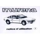 Notice d entretien Matra Murena 2.2 L