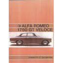 notice d' entretien Alfa Roméo 1750 GTV