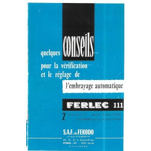 Reglages Ferlec 111